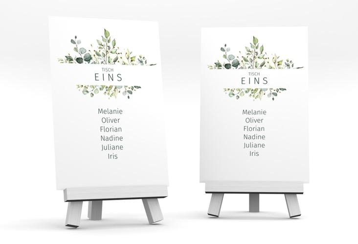 """Tischaufsteller Hochzeit """"Enchanting"""" Tischaufsteller weiss"""