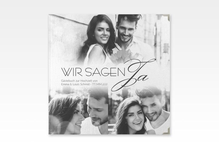 """Gästebuch Selection Hochzeit """"Bokeh"""" Leinen-Hardcover weiss"""