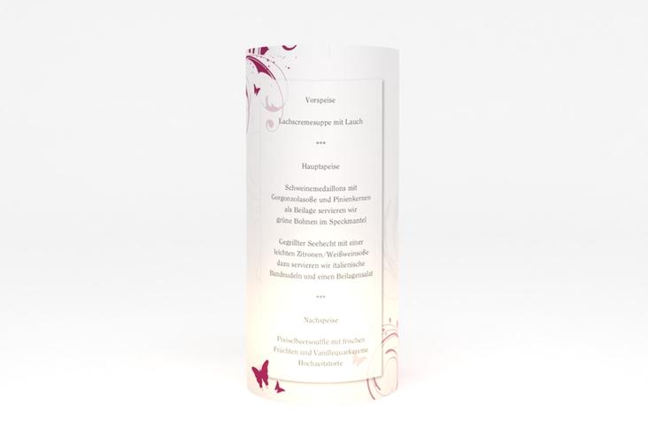 """Windlicht Menü Hochzeit """"Palma"""" Windlicht pink"""