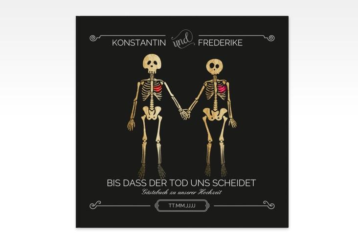 """Gästebuch Creation """"Bones"""" 20 x 20 cm, Hardcover schwarz"""