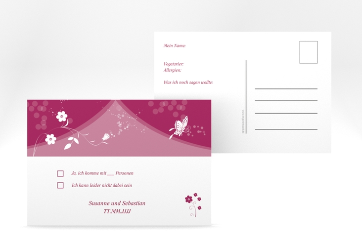 "Antwortkarte Hochzeit ""Verona"" A6 Postkarte"
