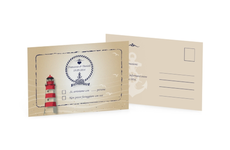 Biglietti risposta matrimonio collezione Amburgo A6 Postkarte