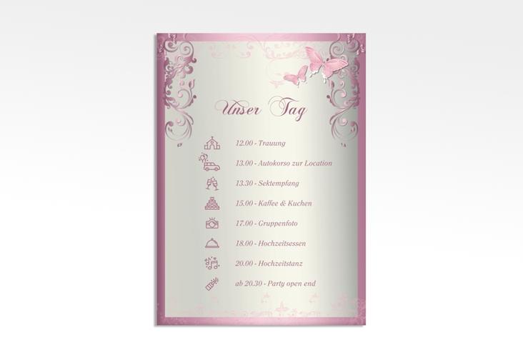 "Tagesablauf Leinwand Hochzeit ""Toulouse"" 50 x 70 cm Leinwand rosa"