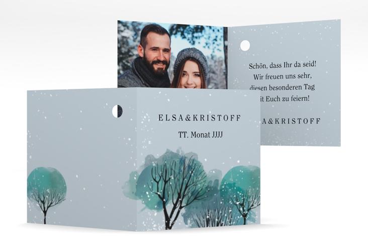 """Geschenkanhänger Hochzeit """"Winterhochzeit"""" Geschenkanhänger 10er Set blau"""