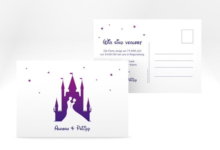 """Verlobungskarte Hochzeit """"Castle"""" A6 Postkarte"""