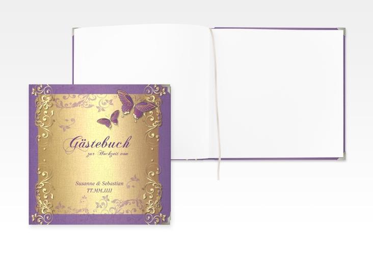 "Gästebuch Selection Hochzeit ""Toulouse"" Leinen-Hardcover lila"