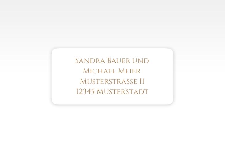 """Absenderetikett Hochzeit """"Delight"""" 45,7 x 21,2 mm gold"""