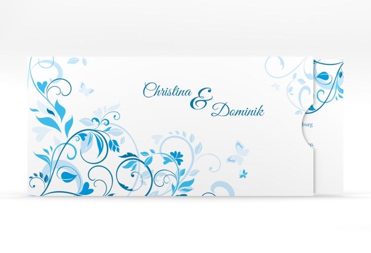 """Hochzeitseinladung """"Lilly"""" Einsteckkarte blau"""