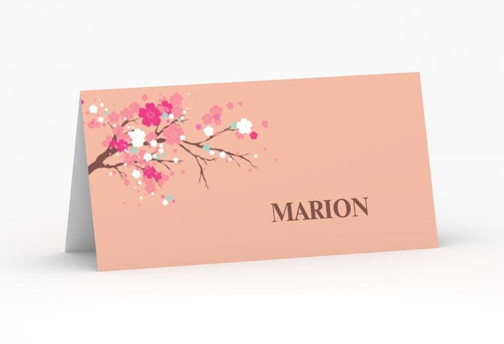 """Tischkarte Hochzeit """"Sakura"""" Tischkarten apricot"""