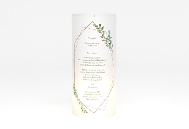 """Windlicht Menü Hochzeit """"Herbarium"""" Windlicht rosa"""