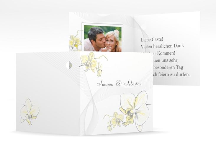 """Geschenkanhänger Hochzeit """"Modena"""" Geschenkanhänger 10er Set gelb"""