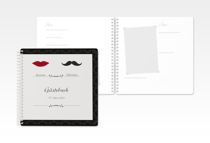 """Gästebuch Hochzeit """"Montpellier"""" Ringbindung"""