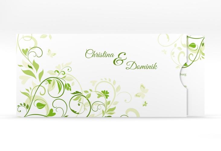 """Hochzeitseinladung """"Lilly"""" Einsteckkarte gruen"""