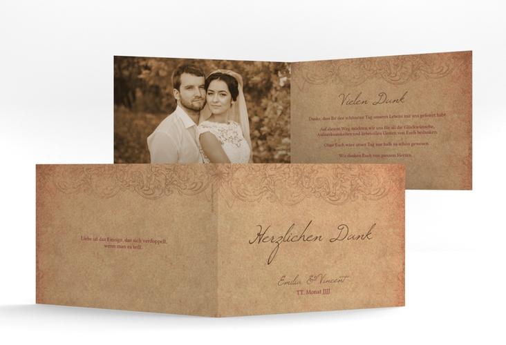 "Danksagungskarte Hochzeit ""Fairytale"" A6 Klappkarte Quer"