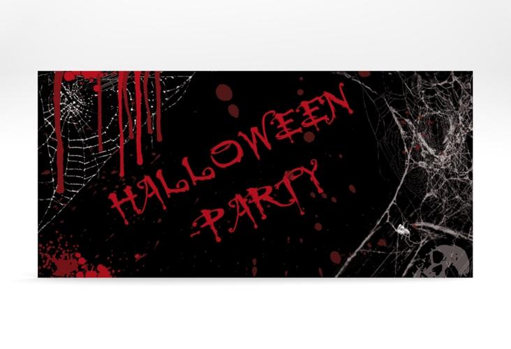 "Partyeinladung ""Spinnennest"" DIN lang"