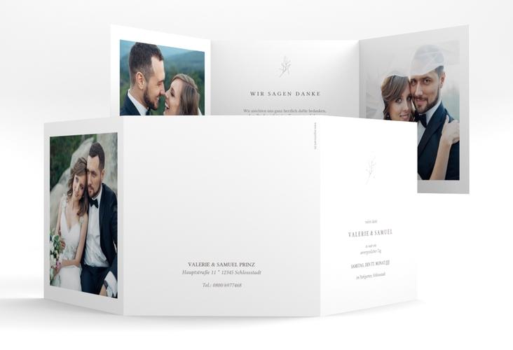 """Danksagungskarte Hochzeit """"Ivy"""" Quadr. Karte doppelt weiss"""
