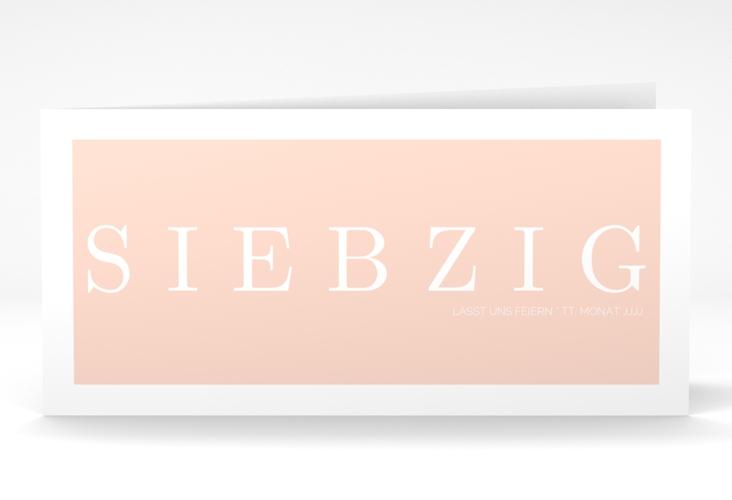 """Einladungskarte """"Schlicht"""" DIN lang Klappkarte rosa"""