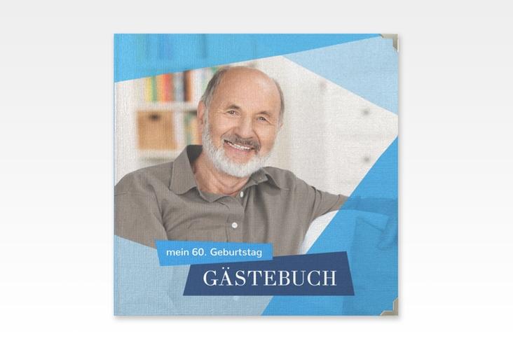 "Gästebuch Selection Geburtstag ""Shapes"" Leinen-Hardcover blau"