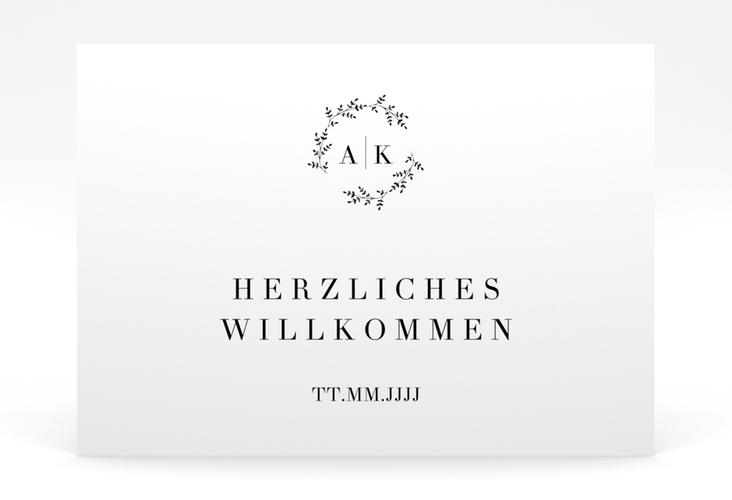 "Willkommensschild Poster ""Filigrana"" 70 x 50 cm Poster"