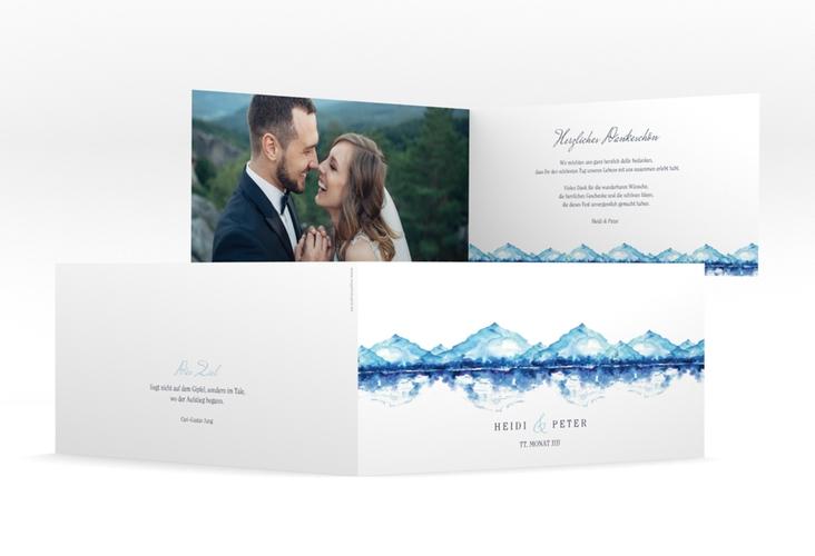 """Danksagungskarte Hochzeit """"Bergliebe"""" DIN lang Klappkarte"""