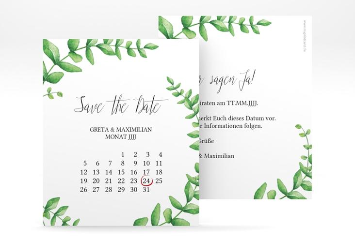 "Save the Date-Kalenderblatt ""Botanic"" Kalenderblatt-Karte"