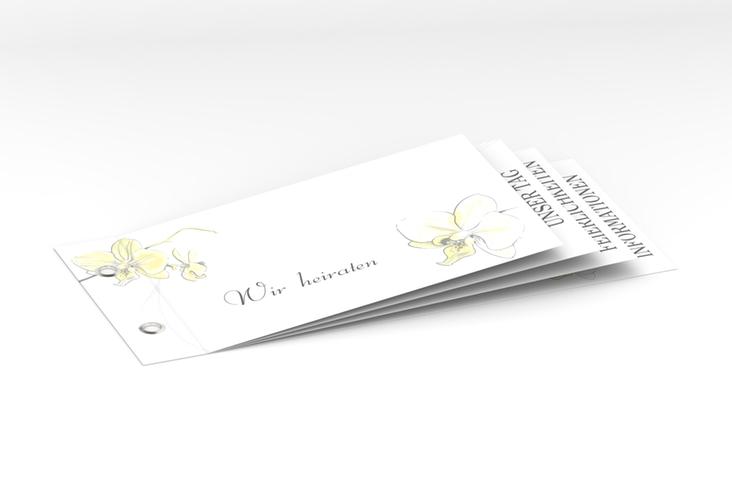 """Einladung Hochzeit """"Modena"""" Booklet gelb"""