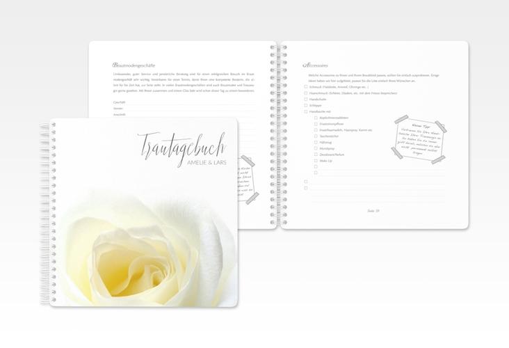 """Trautagebuch Hochzeit """"Rose"""" Trautagebuch Hochzeit weiss"""