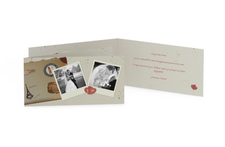Ringraziamenti matrimonio collezione Catania DIN lang Klappkarte