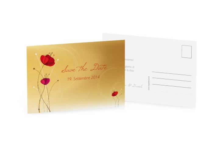Biglietti Save the Date collezione Madrid A6 Postkarte lila