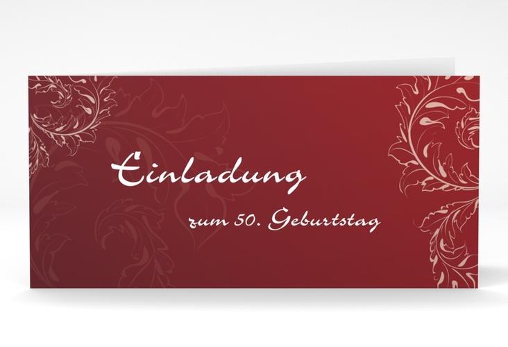 "Einladungskarte ""Peter/Petra"" DIN lang Klappkarte rot"