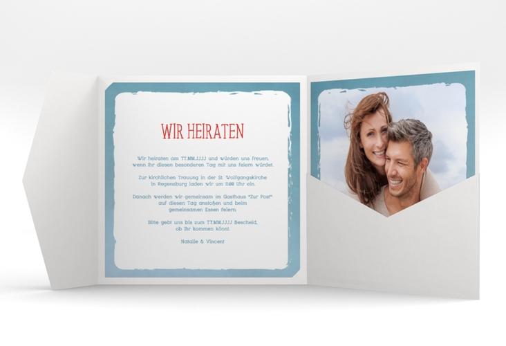 """Hochzeitseinladung """"Ehehafen"""" Pocketfold"""