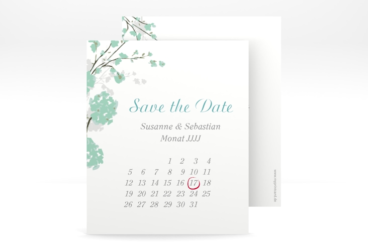 "Save the Date-Kalenderblatt ""Salerno"" Kalenderblatt-Karte mint"