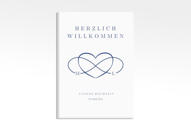 "Willkommensschild Leinwand ""Infinity"" 50 x 70 cm Leinwand"