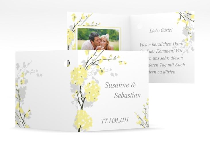 """Geschenkanhänger Hochzeit """"Salerno"""" Geschenkanhänger 10er Set gelb"""