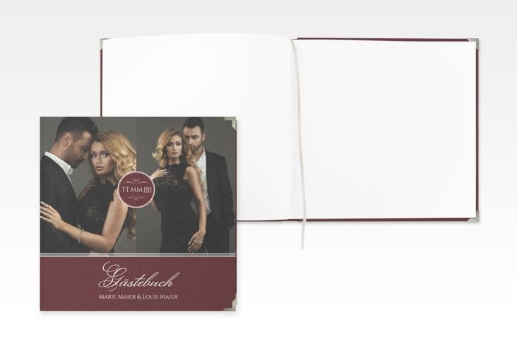 """Gästebuch Selection Hochzeit """"Elegancy"""" Leinen-Hardcover rot"""