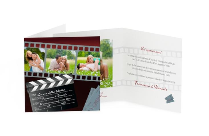 Inviti matrimonio collezione Rieti Quadratische Klappkarte