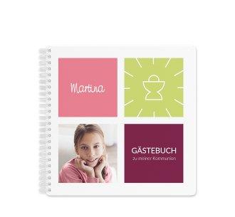 "Gästebuch Kommunion ""Arcula"" Gästebuch pink"