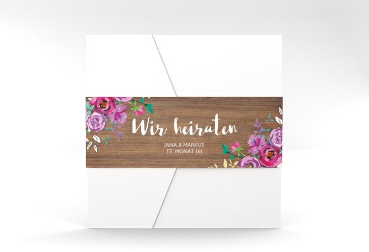 """Hochzeitseinladung """"Flourish"""" Pocketfold"""