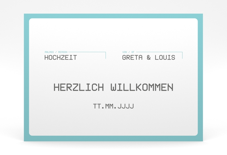 "Willkommensschild Poster ""Weddingpass"" 70 x 50 cm Poster"