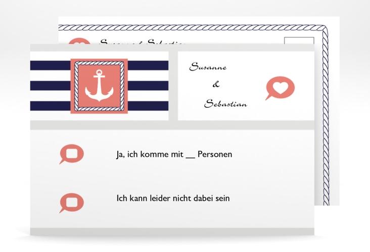 """Antwortkarte Hochzeit """"Girona"""" A6 Postkarte"""