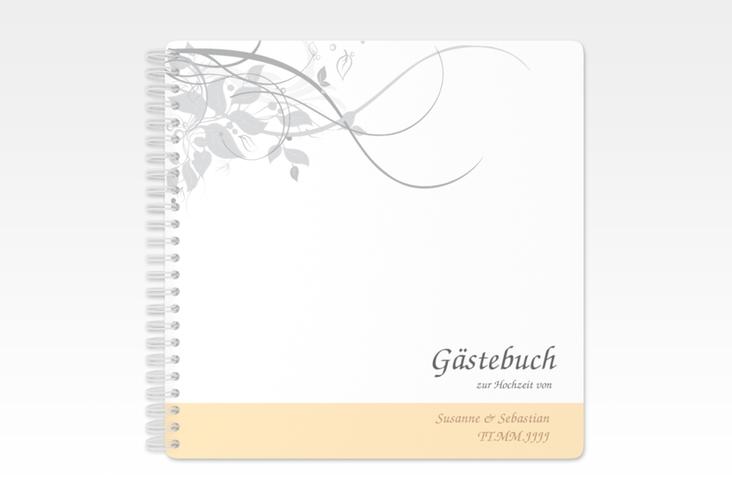 """Gästebuch Hochzeit """"Florenz"""" Ringbindung beige"""