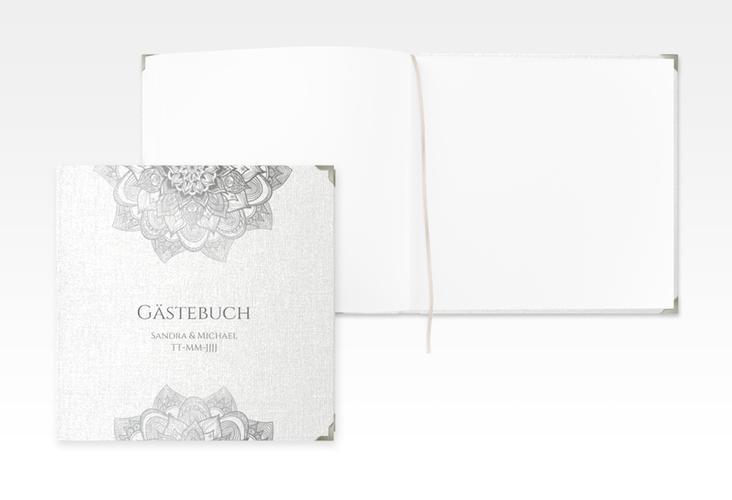 "Gästebuch Selection Hochzeit ""Delight"" Leinen-Hardcover grau"
