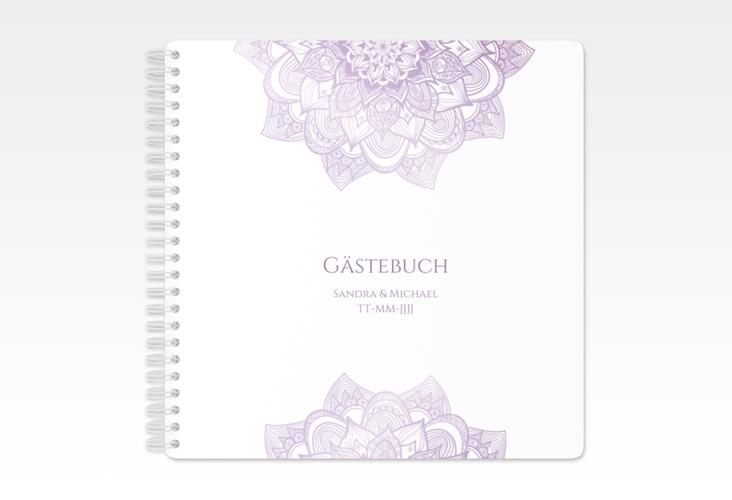 """Gästebuch Hochzeit """"Delight"""" Ringbindung flieder"""
