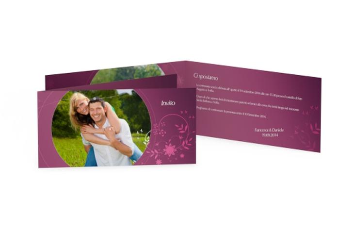 Inviti matrimonio collezione Siena DIN lang Klappkarte fucsia