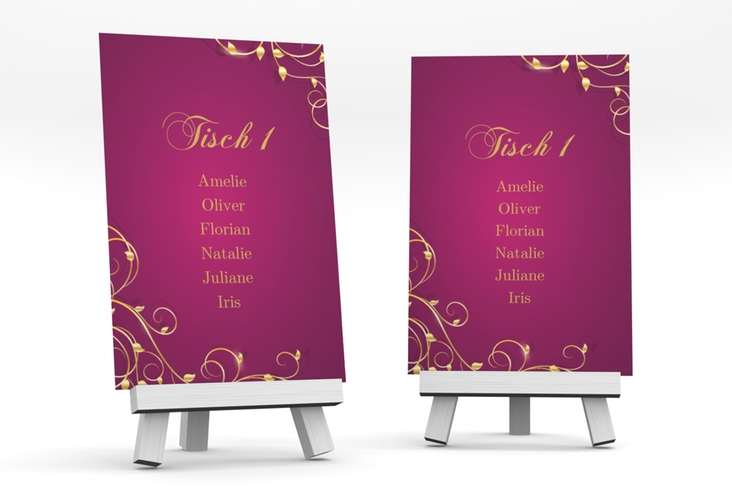 """Tischaufsteller Hochzeit """"Eternity"""" Tischaufsteller pink"""