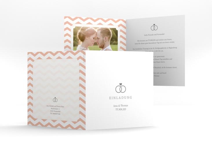 """Hochzeitseinladung """"Avery"""" Quadratische Klappkarte"""