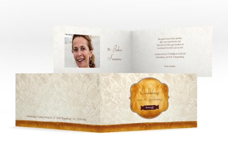"""Einladungskarte """"Luise"""" DIN lang Klappkarte"""