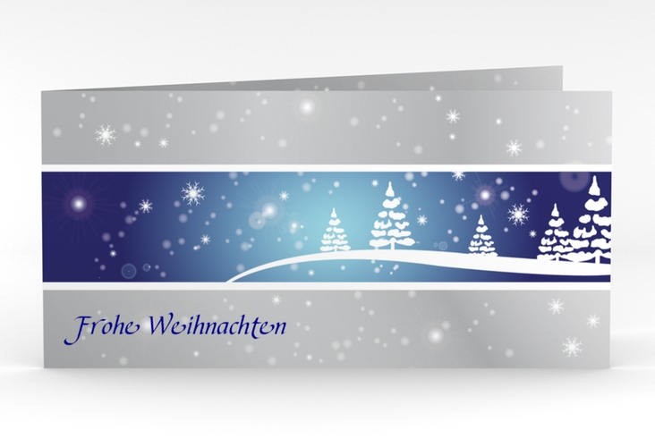"""Weihnachtskarte """"Magical"""" DIN lang Klappkarte"""