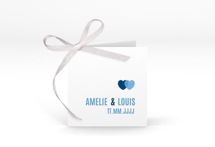 """Geschenkanhänger Hochzeit """"Couple"""" Geschenkanhänger 10er Set blau"""