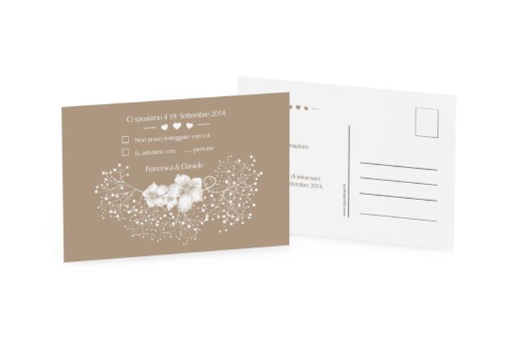 Biglietti risposta matrimonio collezione Pescara A6 Postkarte